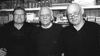 Ex-huisbaas Frans Kenens, Voorzitter Achiel Vanhees en Kamiel